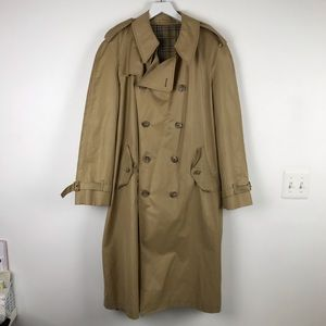 Burberry's Vintage Trench Coat & Button Wool Sz XL